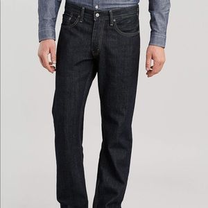 Levi's mens 33x34 relaxes straight fit blue jeans